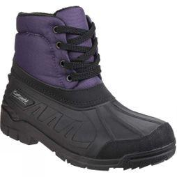 Cotswold Womens Leoni Lace Up Canadian Boot Purple