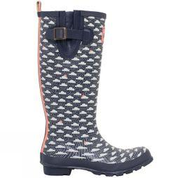 Brakeburn Women's Rain Cloud Wellie Navy