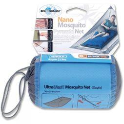 Sea to Summit Single Nano Pyramid Mosquito Net   Grey