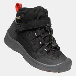 Keen Kids Hikeport Mid Waterproof Boot Black/Bright Red
