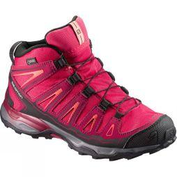 Salomon Kids X-Ultra Mid GTX Shoe Virtual Pink/Beet Red/Living Coral