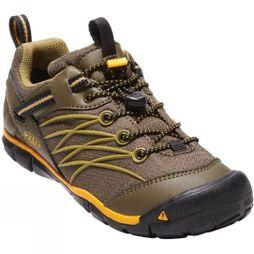 Keen Youth Chandler CNX Waterproof Shoe Dark Olive / Citrus