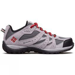 Columbia Youths Redmond Shoe Ti Grey Steel, Mountain Red
