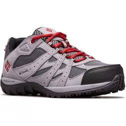 Columbia Kids Redmond Shoe Ti Grey Steel, Mountain Red