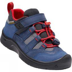 Keen Kids Hikeport Waterproof Shoe Dress Blues/Firey Red