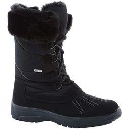 Calzat Girls Fur Trim Traction Boot Black/Black