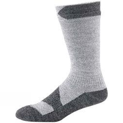 SealSkinz Mens Walking Thin Mid Socks  Grey marl/Dark grey marl