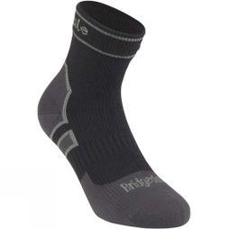 Bridgedale Lightweight Ankle Length Stormsock Black/Mid Grey