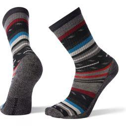 SmartWool Mens Hike Light Margarita Crew Socks Black