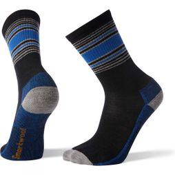 SmartWool Mens Hike Striped Light Crew Socks  Black
