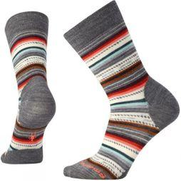 SmartWool Womens Margarita Sock Medium grey Heather/Light Coral