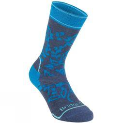 Bridgedale Womens Midweight Merino Endurance Pattern Knit Sock  Navy/Blue Print