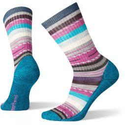 SmartWool Womens Hike Light Margarita Crew Socks Deep Marlin
