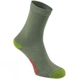 Craghoppers Boys NosiLife Travel Socks Dark Khaki