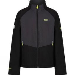 Regatta Boys Varro Softshell Jacket Black/Ash