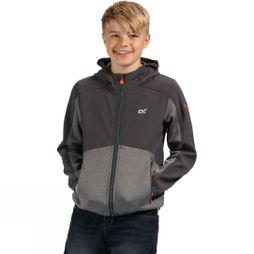 Regatta Kids Bracknell Softshell Jacket Age 14+ Seal Grey