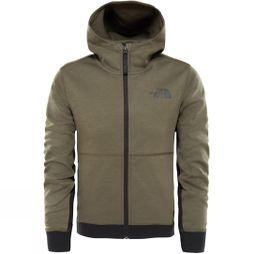 The North Face Boys Mountain Slacker Hoodie New Taupe Green