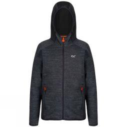 Regatta Kids Dissolver II Full Zip Hooded Fleece Seal Grey/Seal Grey