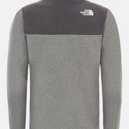 The North Face Youth Glacier Blocked 1/4 Zip Fleece TNF Medium Grey Heather
