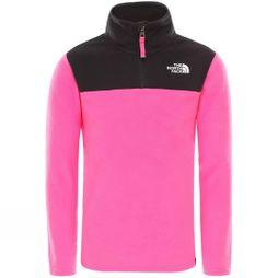 The North Face Youth Glacier Blocked 1/4 Zip Fleece Mr. Pink