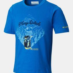 Columbia Boys Camp Champs Short Sleeve T-Shirt Super Blue/Bear Graphic