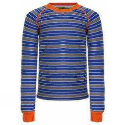 Regatta Kids Elatus Long Sleeve Top Oxford Blue Stripe