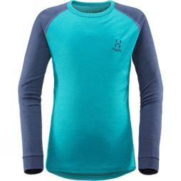 Haglofs Junior Actives Blend Roundneck  Alpine Green/Tarn Bl