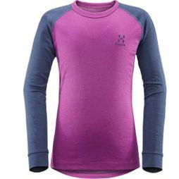 Haglofs Junior Actives Blend Roundneck  Lilac/Tarn Blue