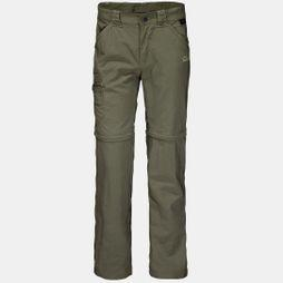 Jack Wolfskin Boys Safari Zip Off Pants Woodland Green/Khaki