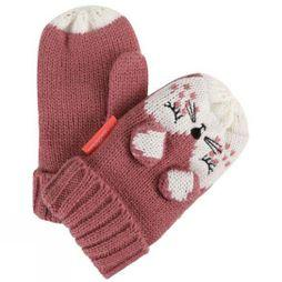 Regatta Kids Animally Mitts II Dusty Rose/White