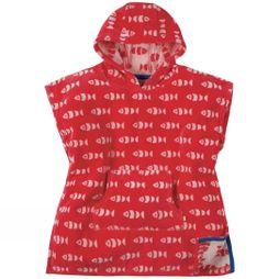 Frugi Childrens Havana Hooded Towel Tomato Fish SS19
