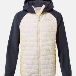 Craghoppers Girls Neopolitan Hybrid Jacket Seasalt / Buttercup