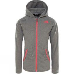 The North Face Girls Mezzaluna Full Zip Hoodie TNF Medium Grey Heather
