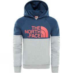 The North Face Girls Drew Peak raglan PV Hoodie Blue Wing teal