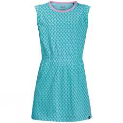 Jack Wolfskin Girls Lily Lagoon Dress Aquamarine All Over