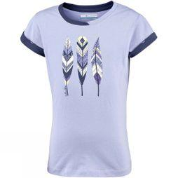 Columbia Girls Lost Trail Short Sleeve T-Shirt Periwinkle/Nocturnal Feathers