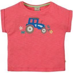 Frugi Girls Sophia Slup T-Shirt  Coral/Tractor SS19
