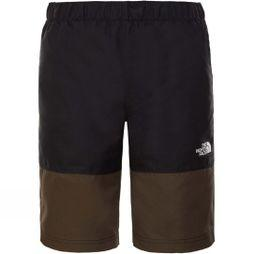 The North Face Boys Class V Swim Short New Taupe Green Desert Youth Phantom Print