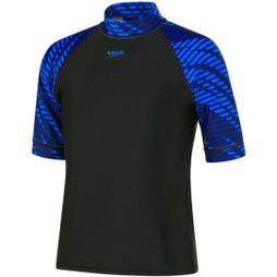 Speedo Boys Rash Top Black/Blue