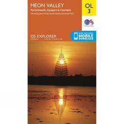 Ordnance Survey Explorer Map OL3 Meon Valley V15