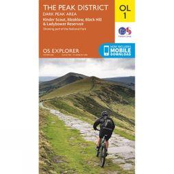 Ordnance Survey Explorer Map OL1 The Peak District - Dark Peak Area V15