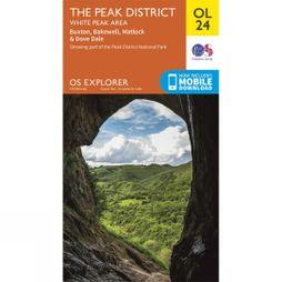 Ordnance Survey Explorer Map OL24 The Peak District - White Peak Area V15