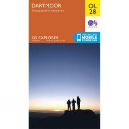 Ordnance Survey Explorer Map OL28 Dartmoor V15