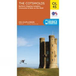 Ordnance Survey Explorer Map OL45 The Cotswolds V15