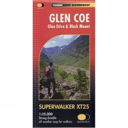 Harvey Maps Glen Coe Glen Etive & Black Mount Map 1:25K No Colour
