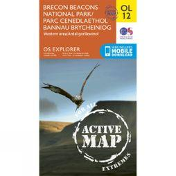 Ordnance Survey Active Explorer Map OL12 Brecon Beacons National Park - Western Area V15