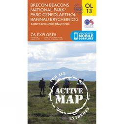 Ordnance Survey Active Explorer Map OL13 Brecon Beacons National Park - Eastern Area V15