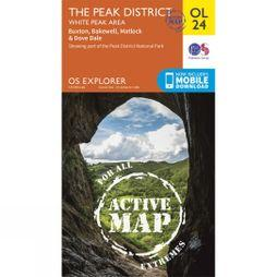 Ordnance Survey Active Explorer Map OL24 The Peak District - White Peak Area V15