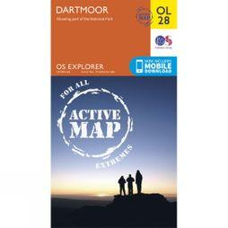 Ordnance Survey Active Explorer Map OL28 Dartmoor V15
