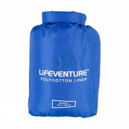 Lifeventure Polycotton Mummy Sleeping Bag Liner Navy